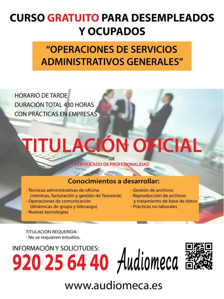 Curso servicios administrativos generales
