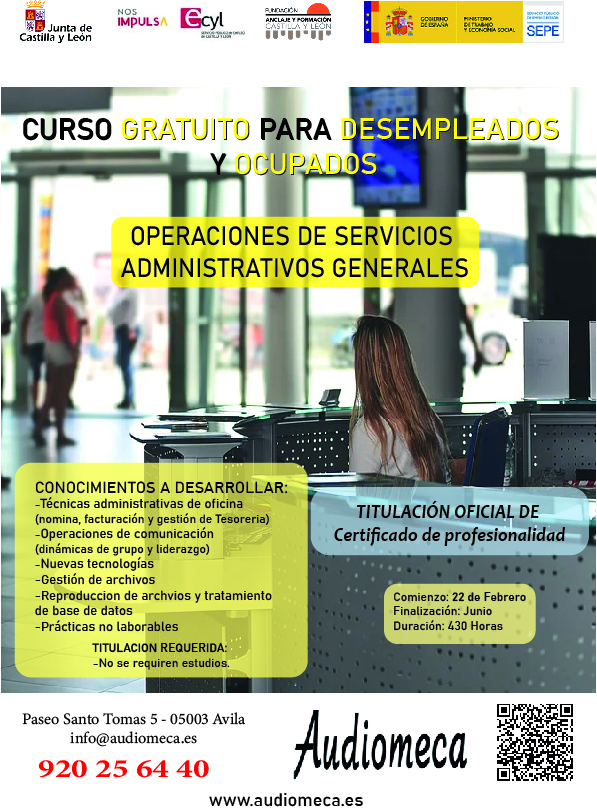 cartel servicios administrativos
